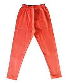 Kiddopanti Full Length Legging Plain - Coral