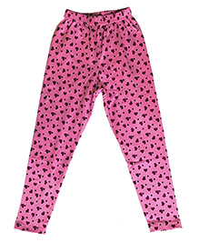 Kiddopanti Full Length Legging Hearts N Dots Print - Pink