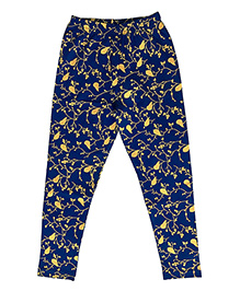 Kiddopanti Full Length Leggings Bird Print - Blue