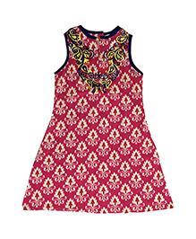 Kiddopanti Sleeveless Printed Kurti - Pink