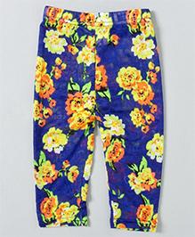 Milonee Flower Print Leggings - Blue