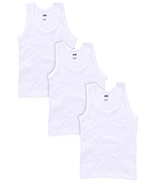 Simply Sleeveless Vest Pack Of 3 - White