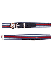 Miss Diva Patch Striped Belt - Blue White & Red