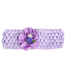 Miss Diva Pearl Bow Soft Headband - Purple