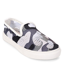 One Friday Camouflage Printed Shoes - Grey