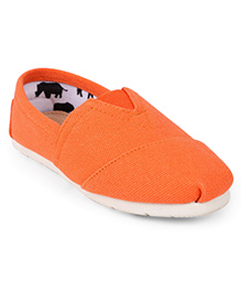 One Friday Patterned Loafers - Orange