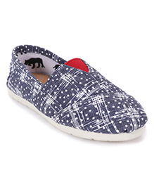One Friday Printed Denim Loafers - Blue