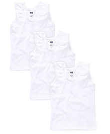 Simply Sleeveless Slips Plain Pack Of 3 - White