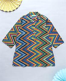 NeedyBee Jaipuri Block Printed Ethnic Kurta - Multicolor