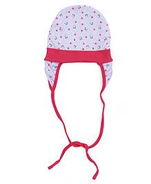 Ben Benny Cover Ear Cap Flower Print - Pink
