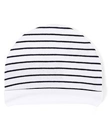Ben Benny Round Cap Stripe Print - Black And White