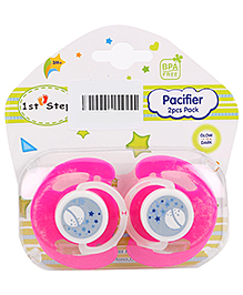 1st Step Baby Pacifiers Pack Of 2 - Pink