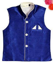 BunChi Sleveeless Waistcoat - Navy Blue