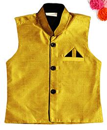 BunChi Sleveeless Waistcoat - Yellow