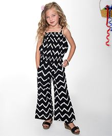Yo Baby Zig Zag Tank & Pants - Black & White
