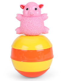 Ratnas Baby Touch Roly Poly Sheep Toy - Pink & Yellow
