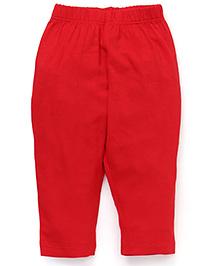 Vitamins Plain Leggings - Red