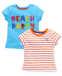 Vitamins Shorts Sleeves Tee Set of 2 - Orange Blue