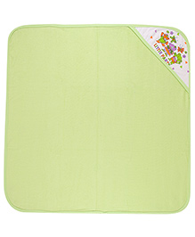 MomToBe Hooded Towel Little Party Print - Green