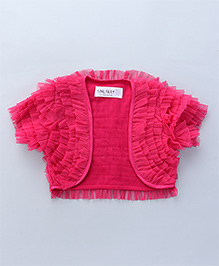 Soul Fairy Half Sleeves Ruffled Shrug - Fuchsia