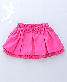 Soul Fairy Flared Skirt With Bow At Waist - Fuchsia