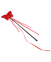 Carolz Jewelry Butterfly Shaped Fairy Wand - Red