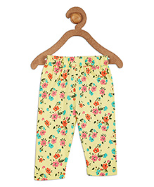 612 League Full Length Lounge Pant Floral Print - Yellow