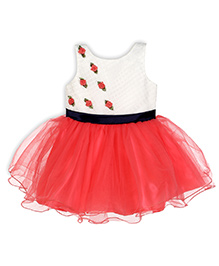 Aww Hunnie Bell Silhouette Dress With Mini Floral Applique - Pink