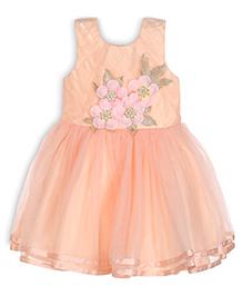 Aww Hunnie Fit & Flare Dress - Peach