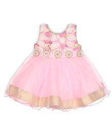 Aww Hunnie Semi Sequence Printed Dress - Pink