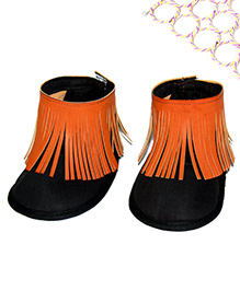 SnugOns Baby Shoes With Fringes - Black