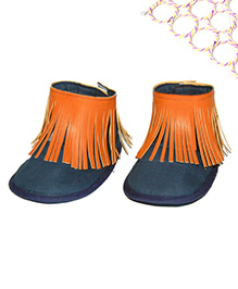 SnugOns Baby Shoes With Fringes - Navy Blue