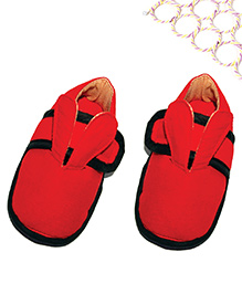 SnugOns Baby Shoes With Rabbit Ear Design - Red