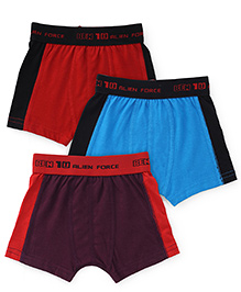 Ben 10 Briefs Solid Color Pack Of 3 - Red Blue Purple Black