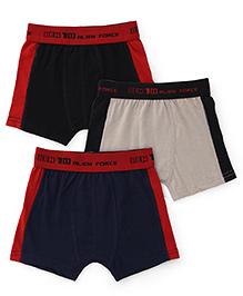 Ben 10 Briefs Solid Color Pack Of 3 - Black Navy Grey Red