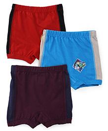Ben 10 Briefs Solid Color Pack Of 3 - Red Blue Black Grey Purple