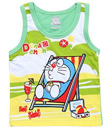 Doraemon Sleeveless Vest - Light  Green