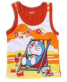 Doraemon Sleeveless Vest - Dark Orange