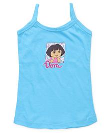 Dora Singlets Slips With Print - Sky Blue