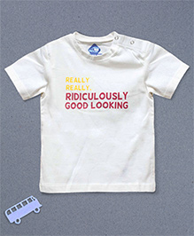 Blue Bus Store Good Looking Short Sleeves T-shirt - White
