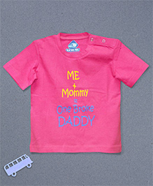 Blue Bus Store Broke Daddy Printed T-shirt - Pink