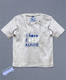 Blue Bus Store Best Auntie Printed T-shirt - Grey