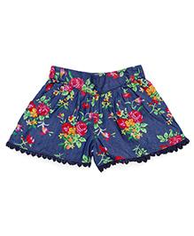 Pinehill Shorts Floral Print - Blue