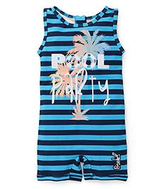 Pinehill Sleeveless Legged Striped Swimsuit - Blue