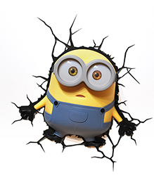 3D Light Minion Bob 3D Deco Light - Blue And Yellow