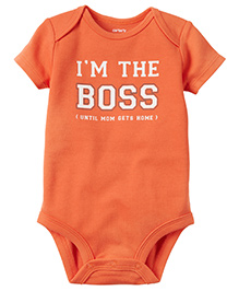 Carter's I'm The Boss Collectible Bodysuit - Orange