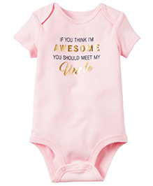 Carter's Awesome Like Uncle Collectible Bodysuit - Pink