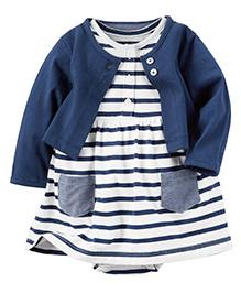 Carter's 2-Piece Dress & Cardigan Set - Navy Blue