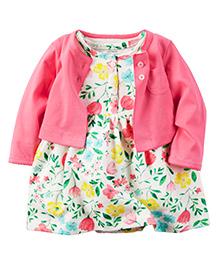 Carter's 2-Piece Dress & Cardigan Set - Pink