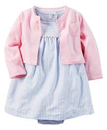 Carter's 2-Piece Dress & Cardigan Set - Sky Blue